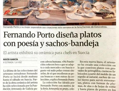 Fernando Porto e Trinidad Barranco deseñan pratos con poesía e sachos-bandexa