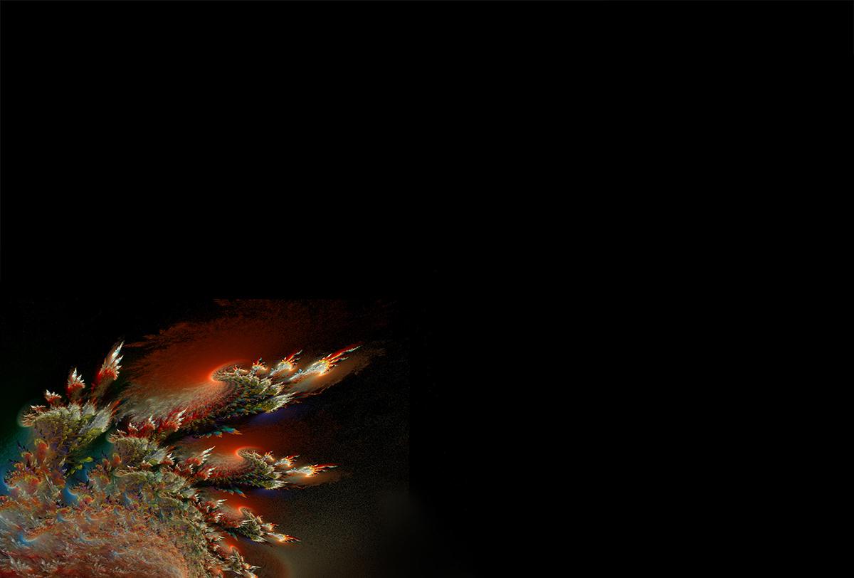 Mantel con imaxe fractal