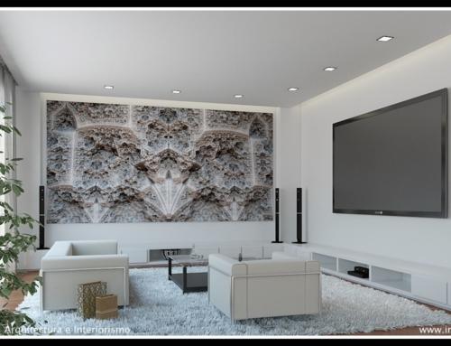 Imaxen fractal sobre un deseño virtual realizado por Infodel3D